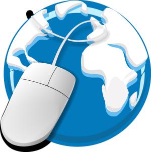 Welt mit Maus